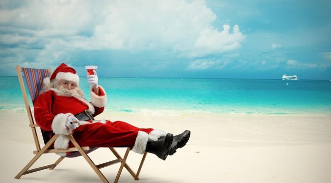 Kaj dela Božiček poleti?